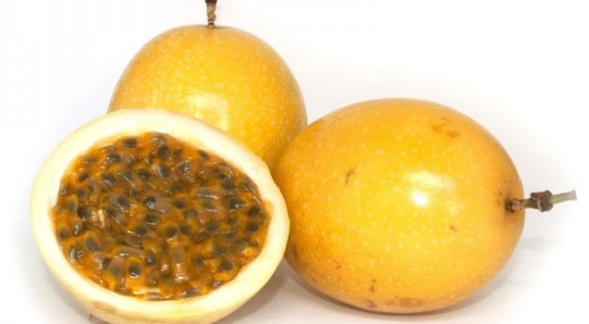 Passion fruit is filled with seeds, but worry not! These are perfectly edible.