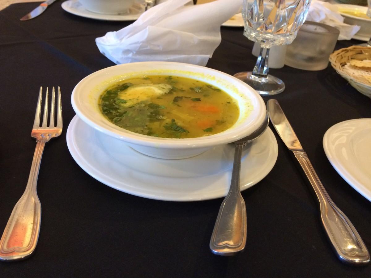 The mulligatawny soup