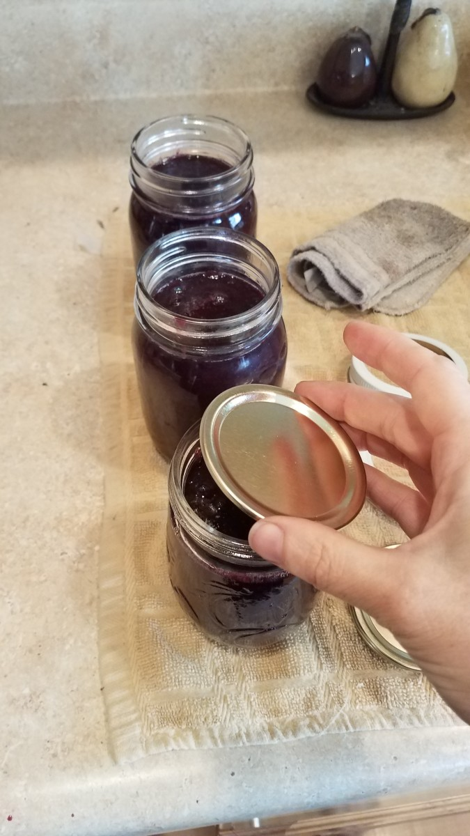 Top each jar with a lid.