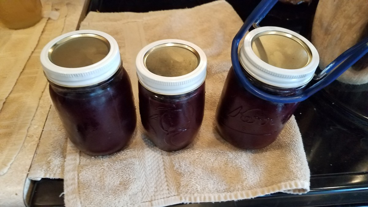 Transfer each of your jars carefully into your water bath canner.