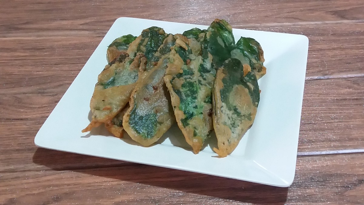 Crispy water spinach (crispy kangkong)