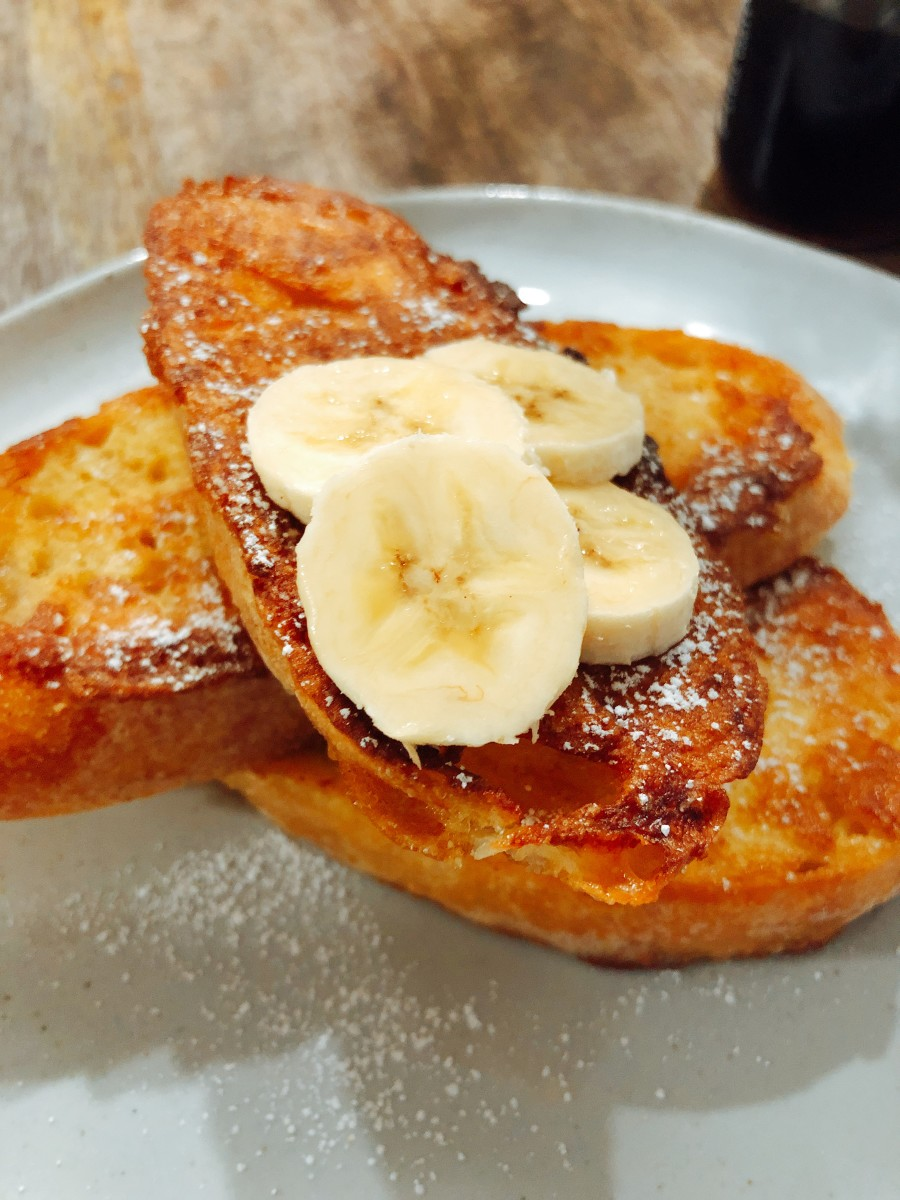 Scrumptious French toast for breakfast.