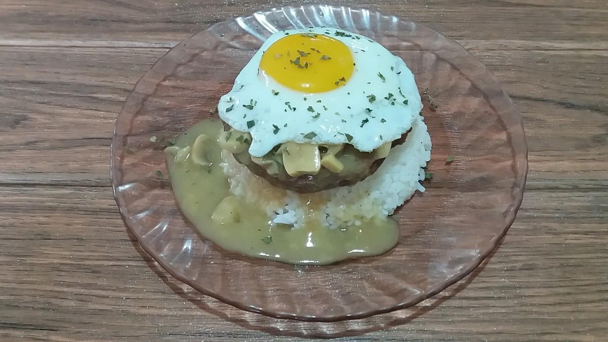 Pork Loco Moco With Mushroom Gravy