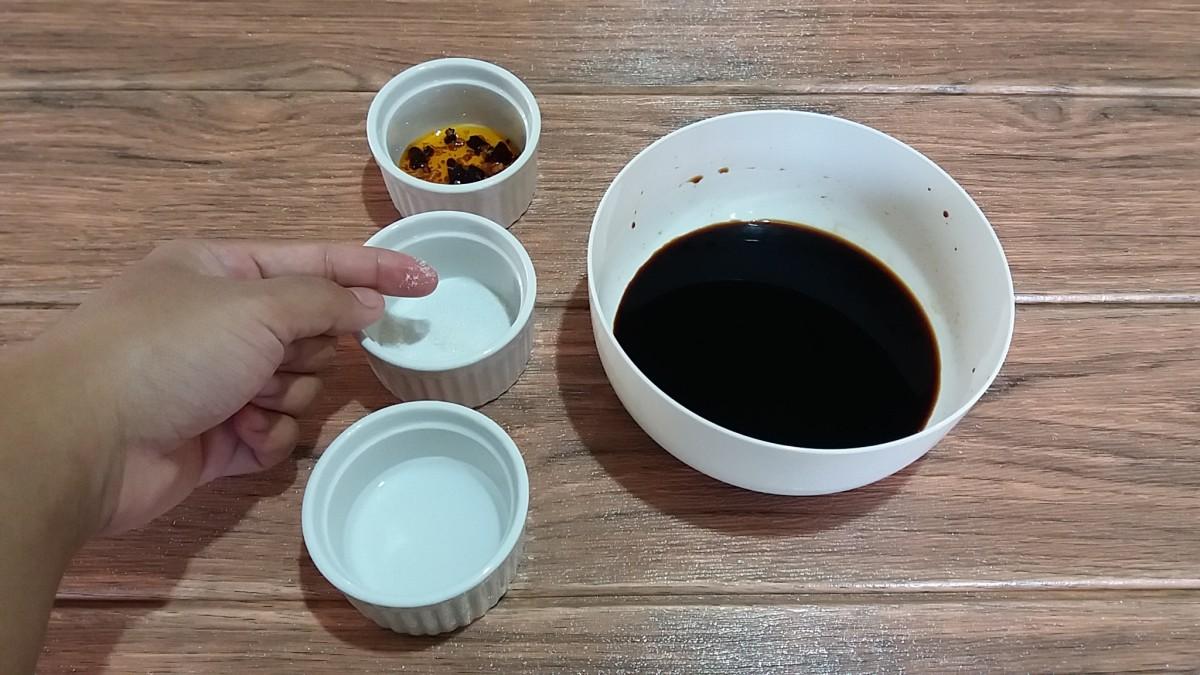 Ingredients for Spicy Soy-Vinegar DIp