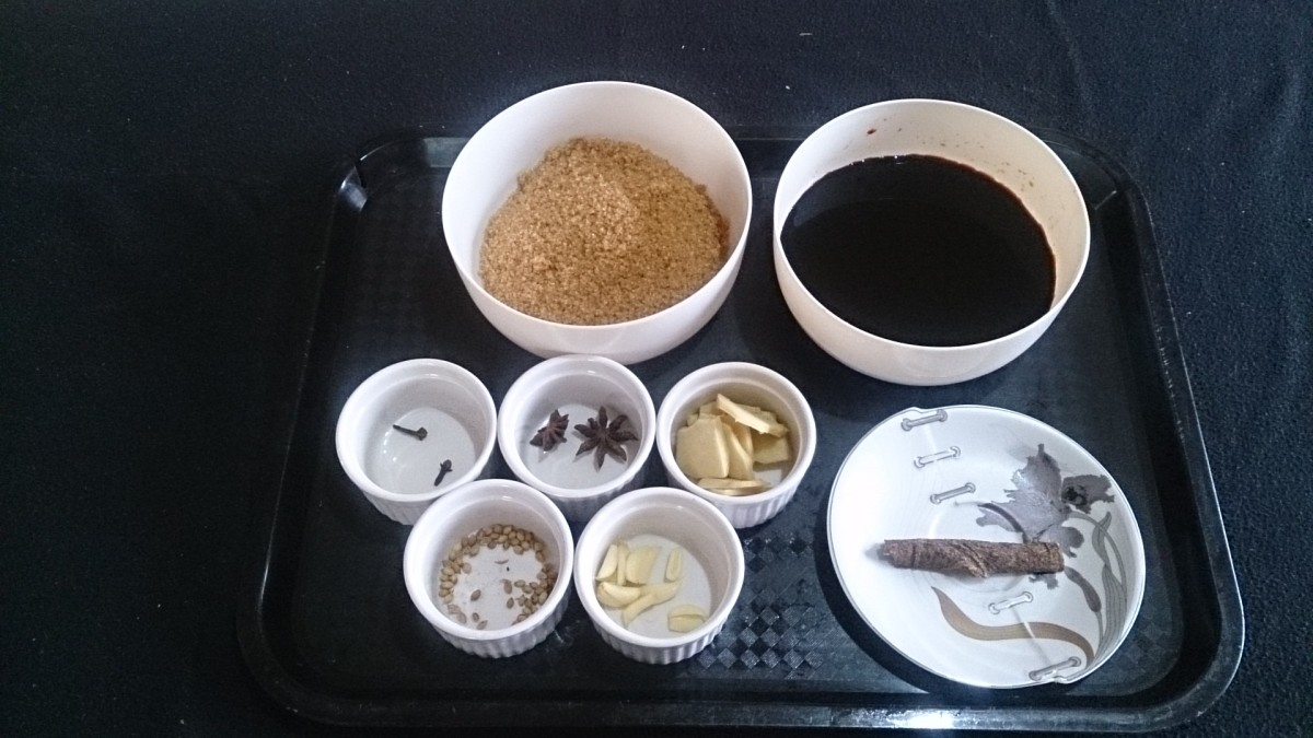 Ingredients for making kecap manis