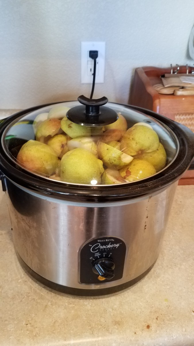 Close up your crockpot and cook for a few hours, until your pears are super soft.