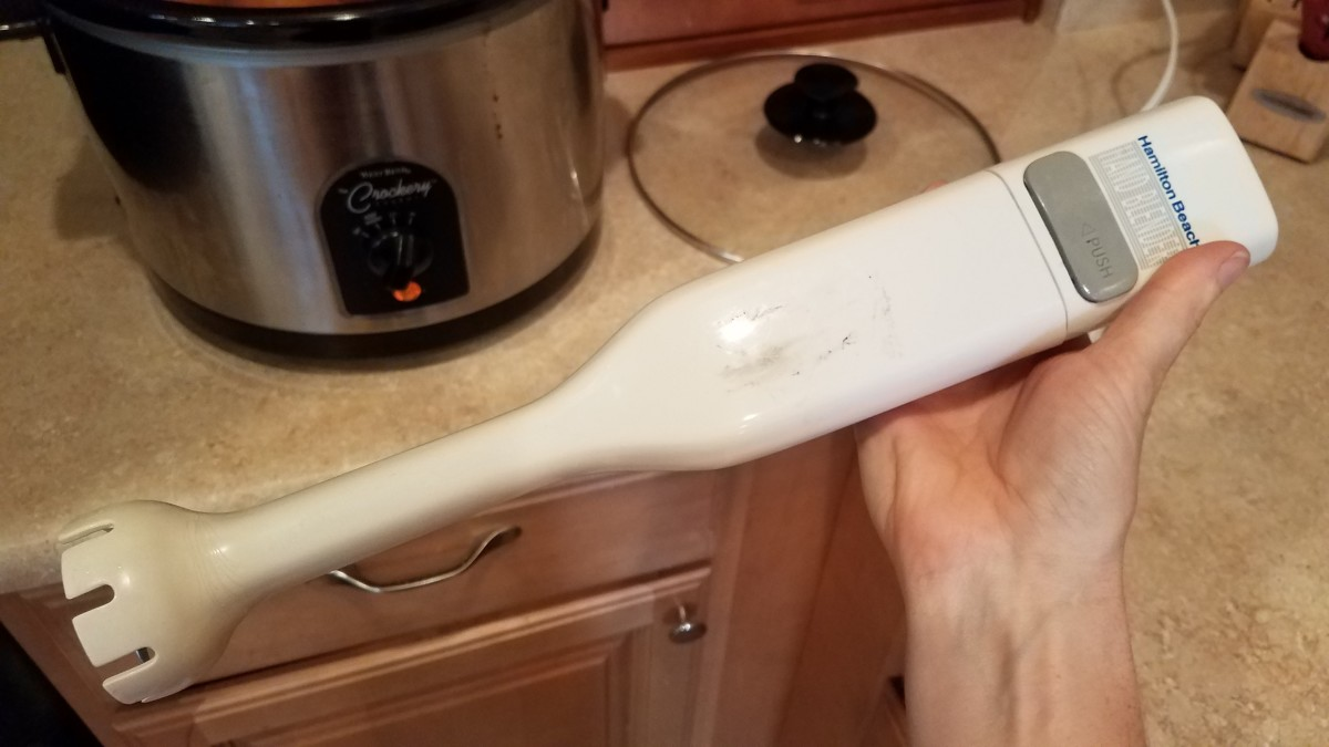 This is an immersion blender. I got mine for a couple bucks at a thrift store.