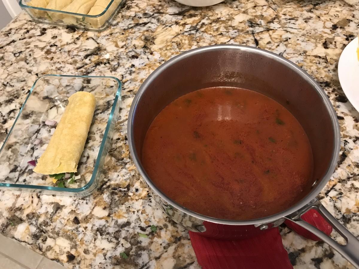 Spoon on sauce