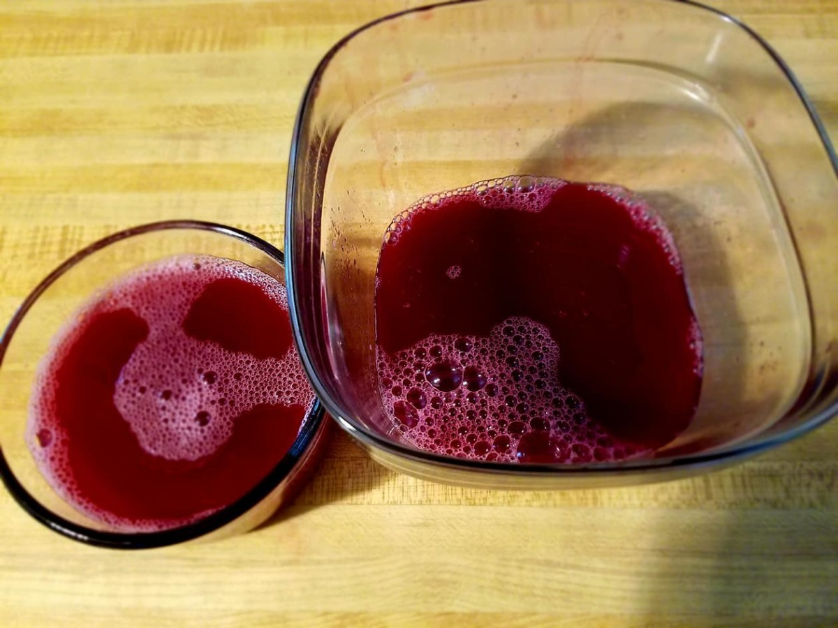 Fresh squeezed grape juice