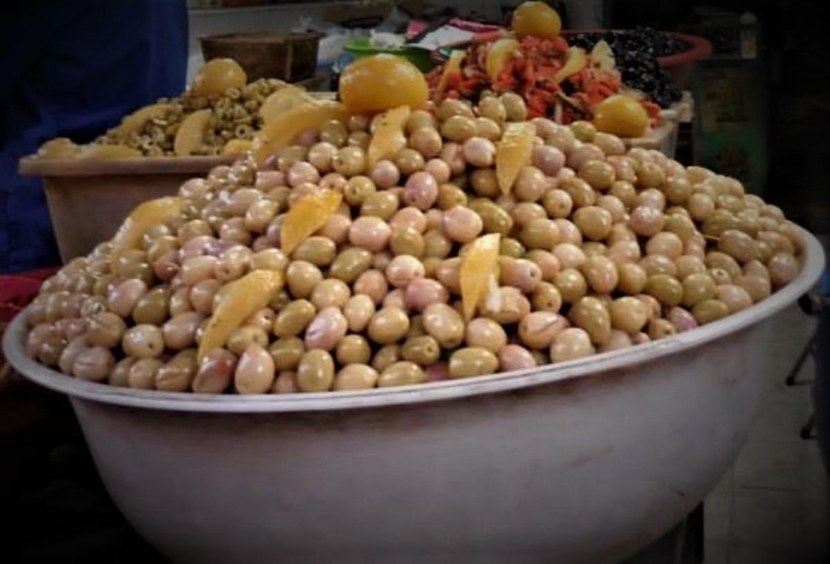 Lemon-cured olives.