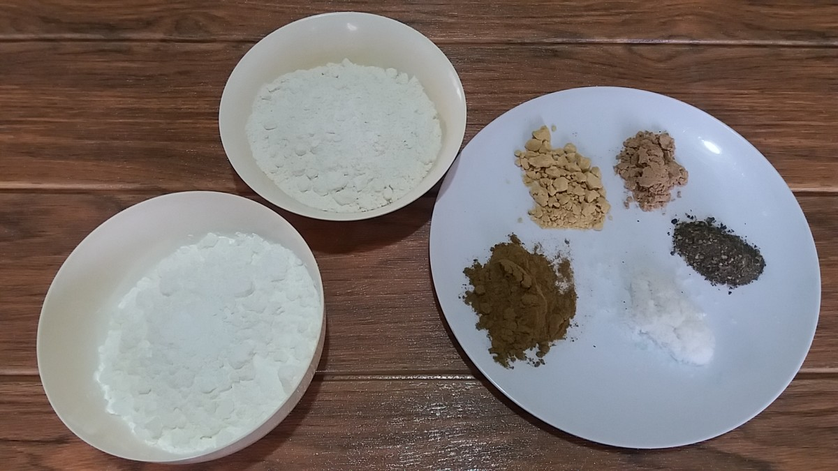 ingredients in making crispy fry breading mix
