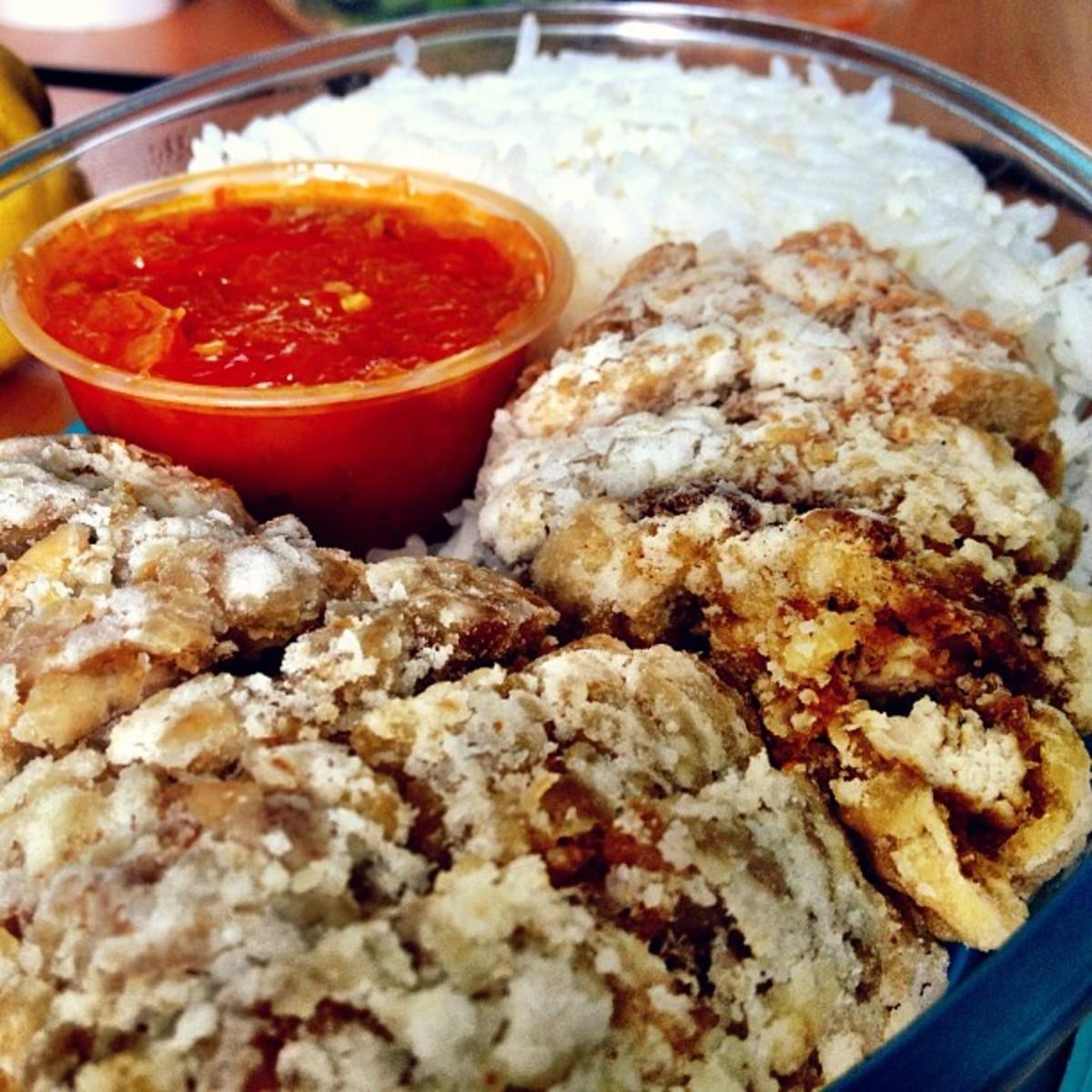 Nasi katok is a national dish of Brunei.