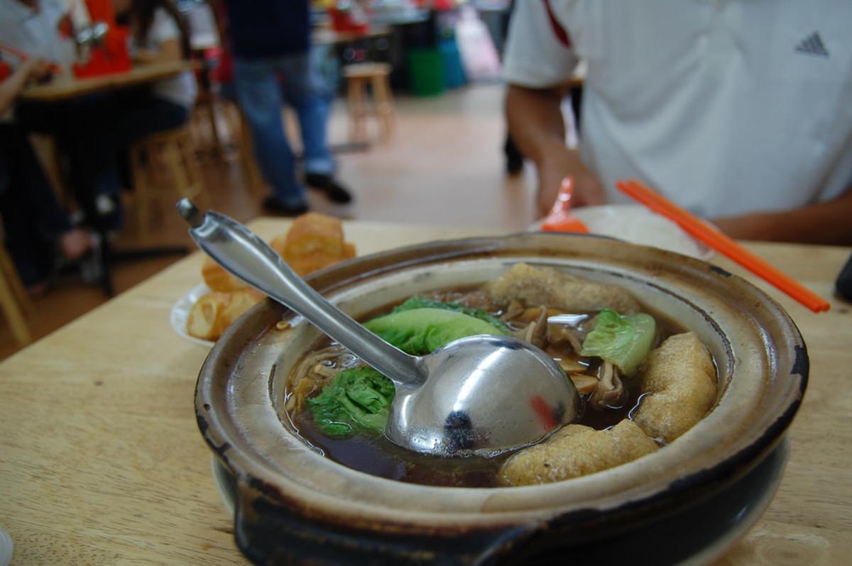 A bak kut teh dish served in a restaurant in Kuala Lumpur, Malaysia.