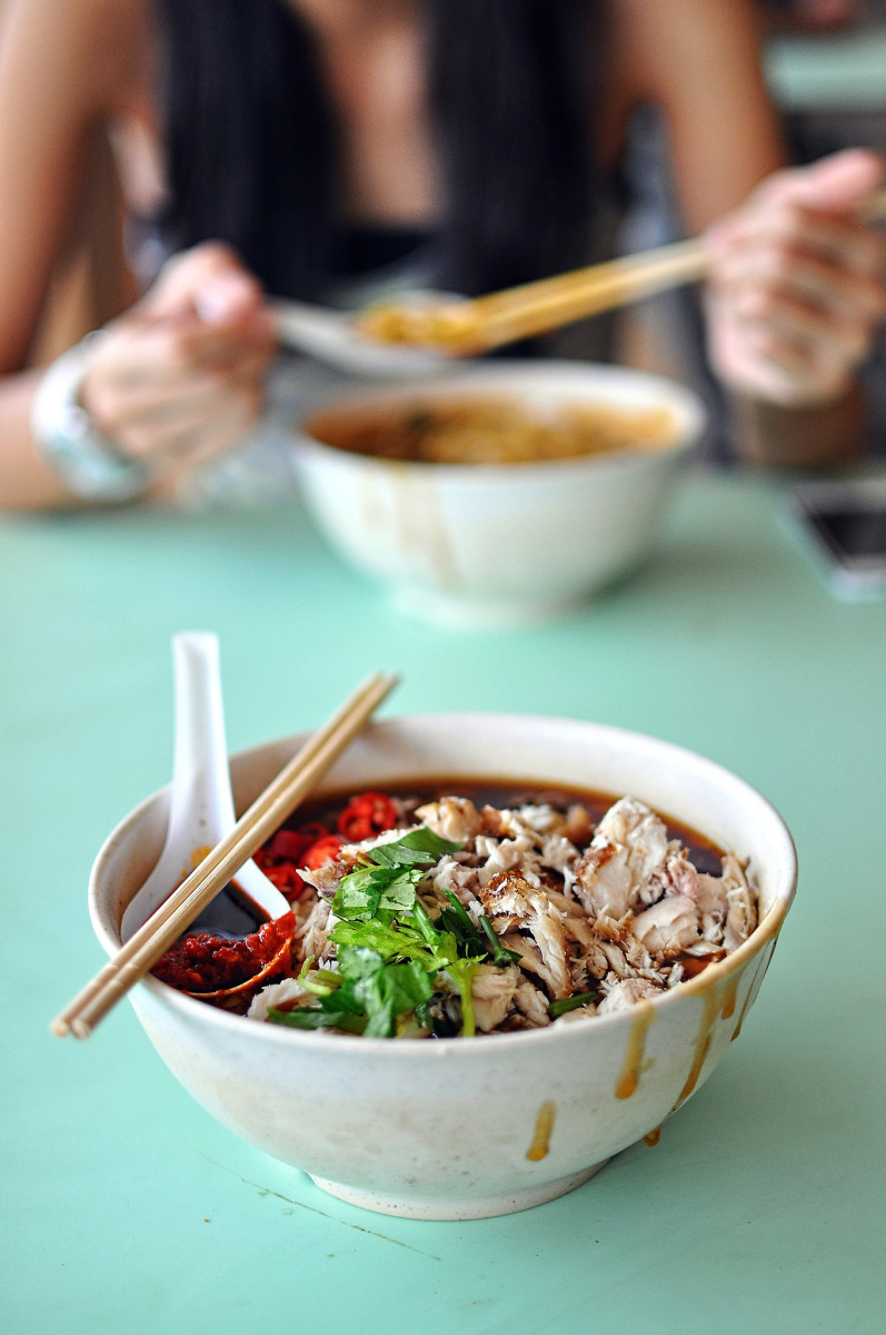 Lor mee at a hawker center in Singapore.