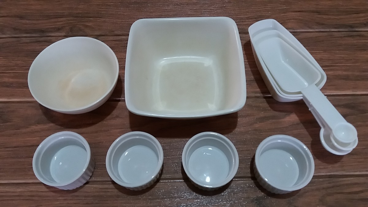 utensils for preparing the ingredients