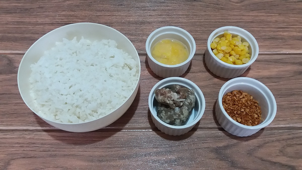 ingredients for special garlic fried rice