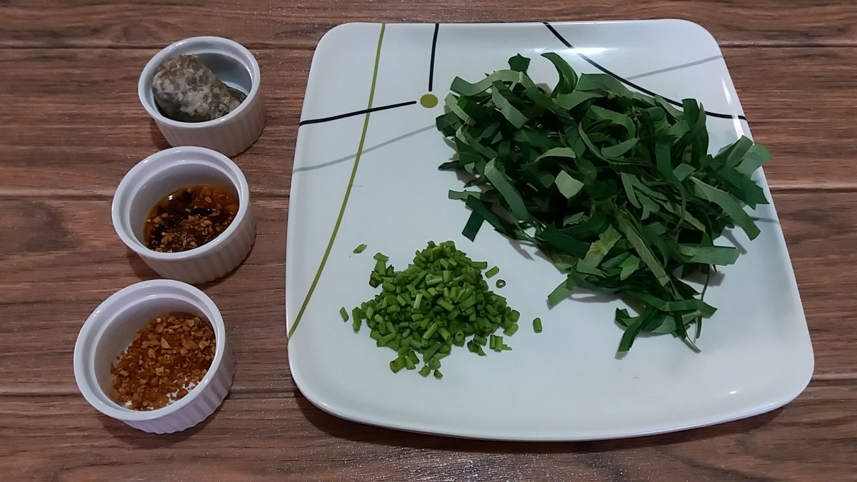 water spinach in Chinese