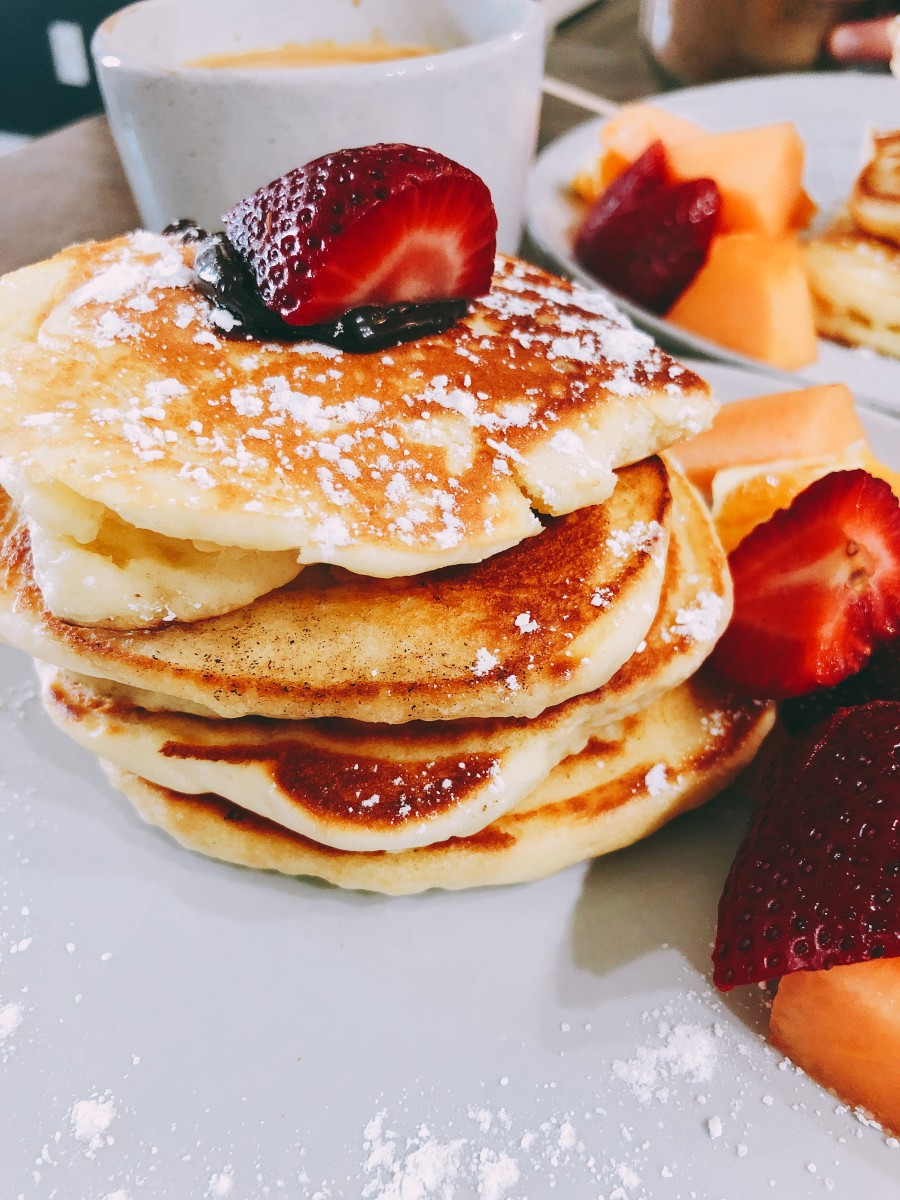 My stack of pancakes.