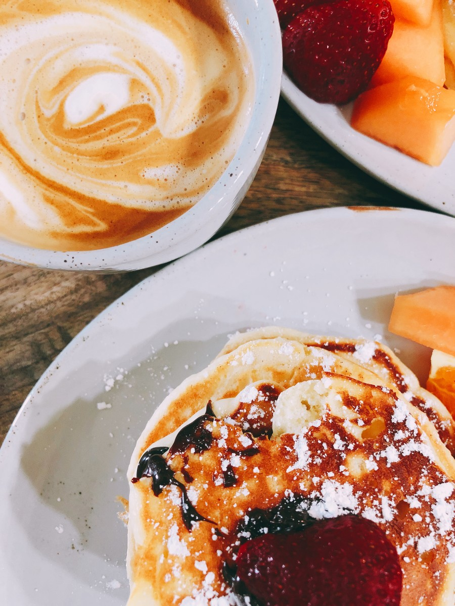 Of course, we love having pancakes with coffee.