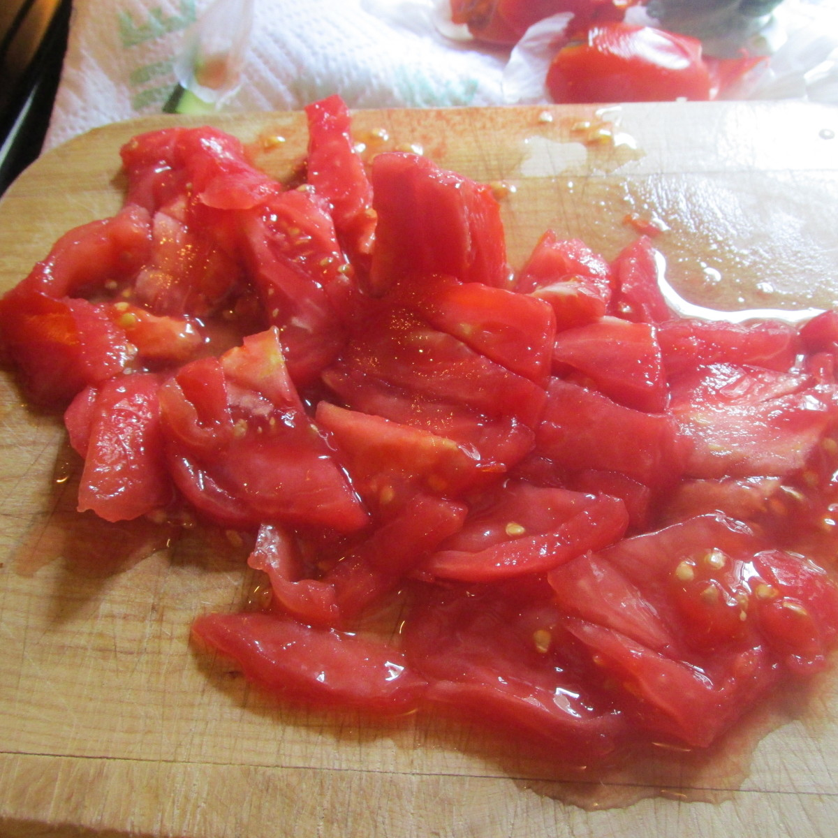 Tomatoes peeled and chopped.