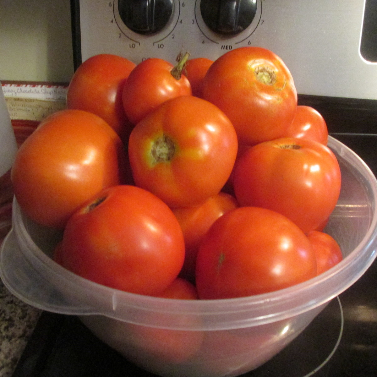 Tomatoes from our garden.