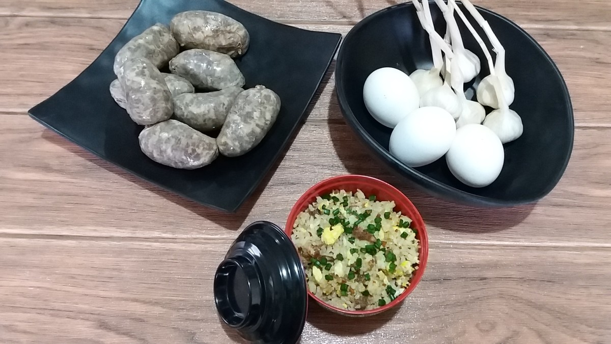 sausage and egg breakfast rice bowl