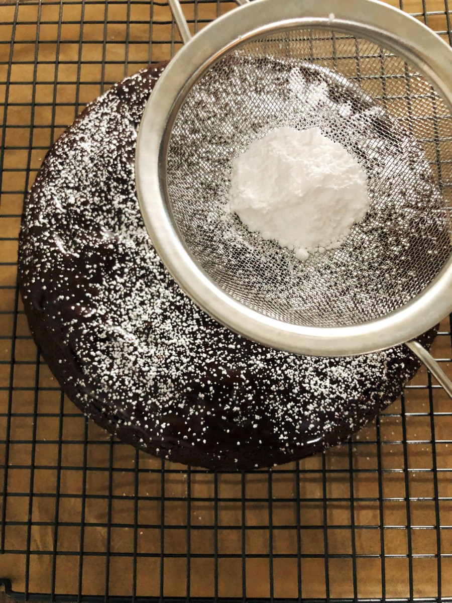 Sprinkle powdered sugar.