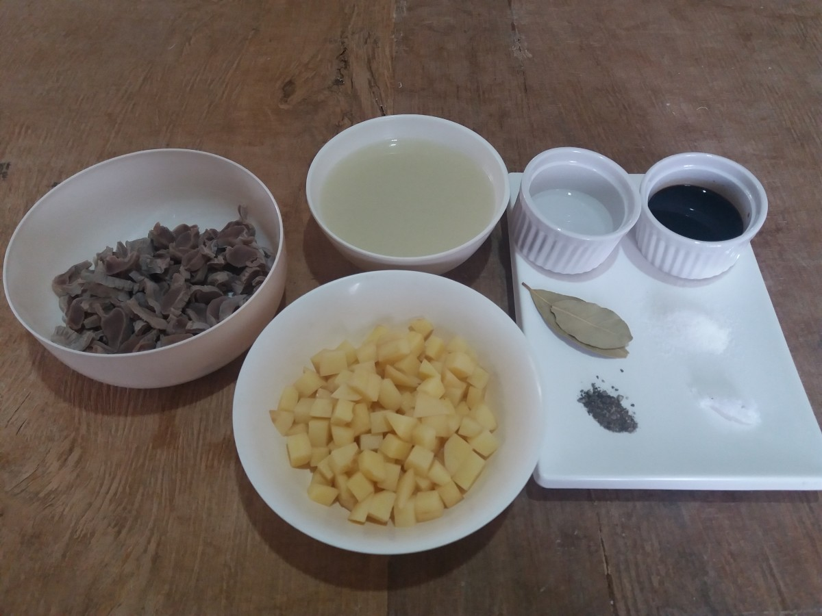 ingredients for adobo chicken gizzard recipe