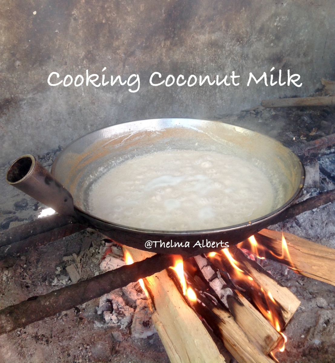 Cooking the coconut milk