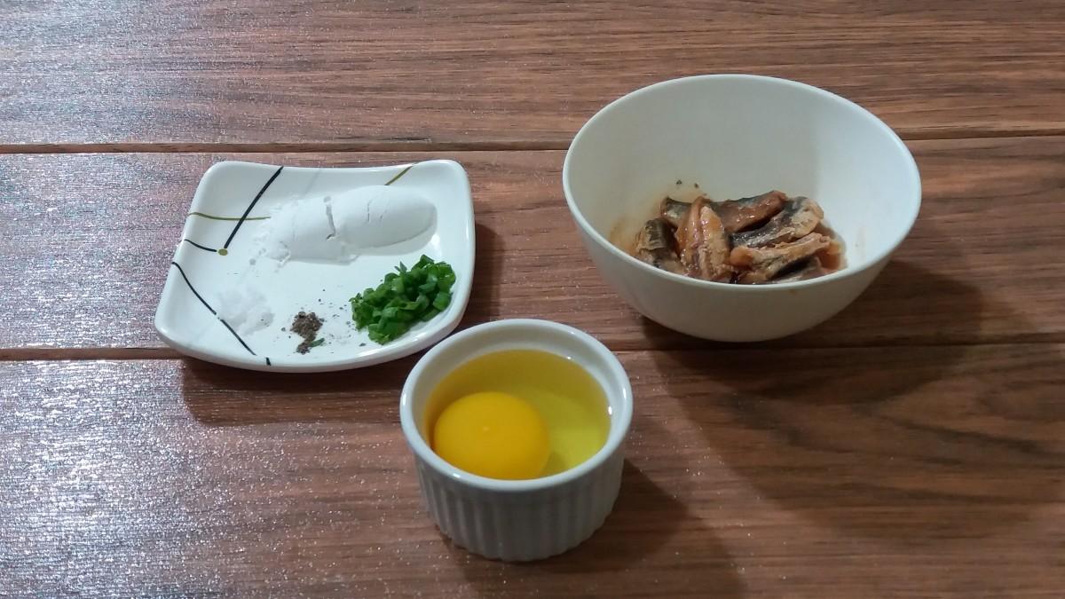 ingredients for sardines pancake