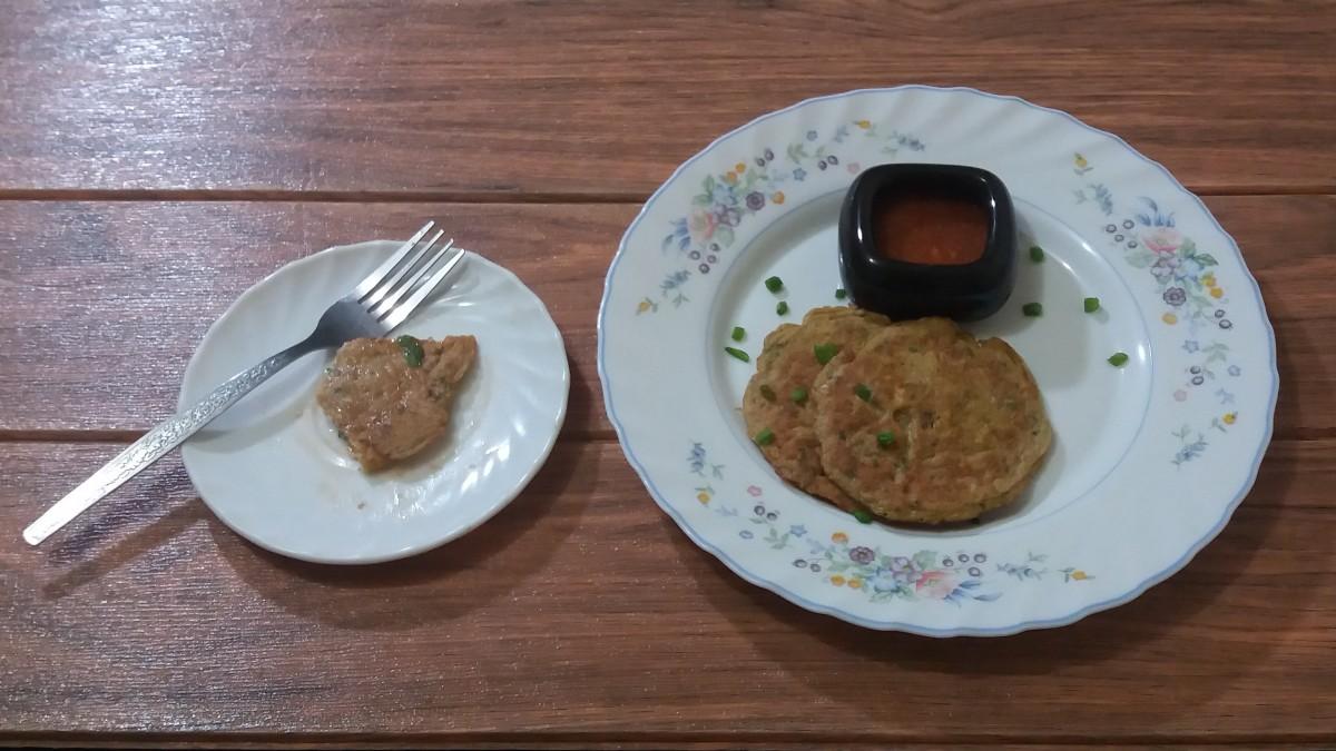 sardines pancake - a unique savory pancake