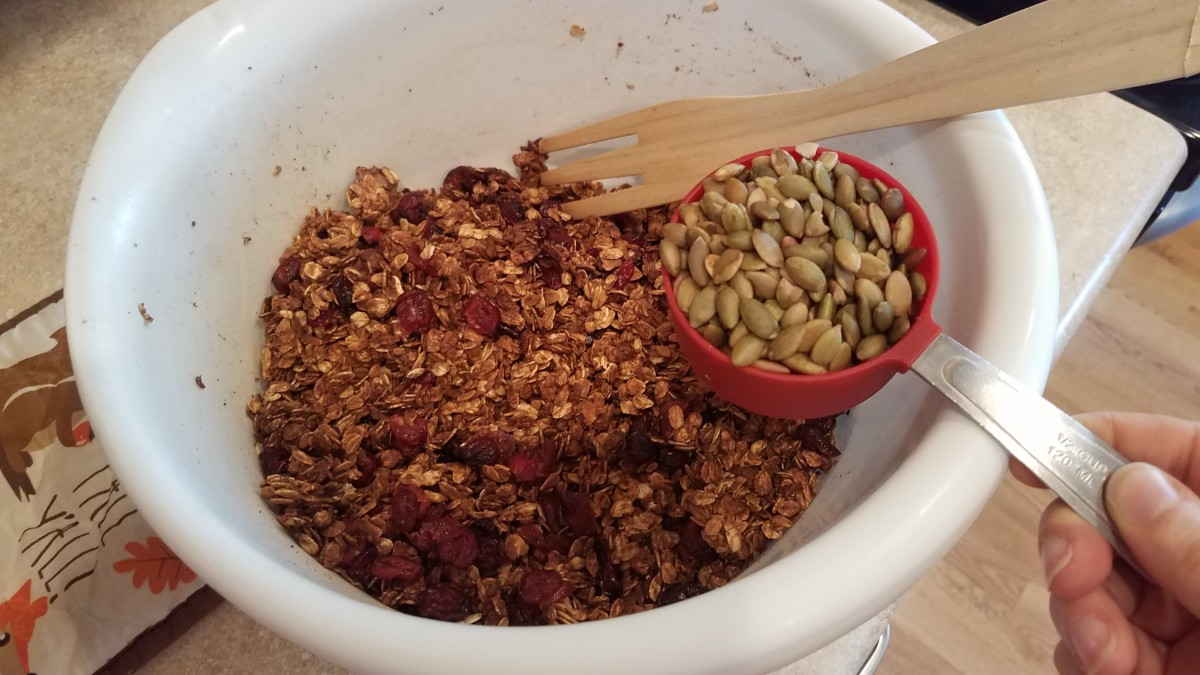 And your pumpkin seeds. Mix your granola well and store it in a cool, dry location in an airtight container.