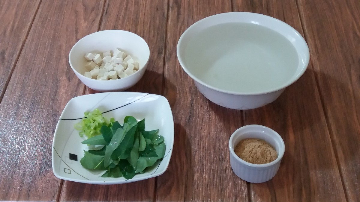 Miso soup ingredients
