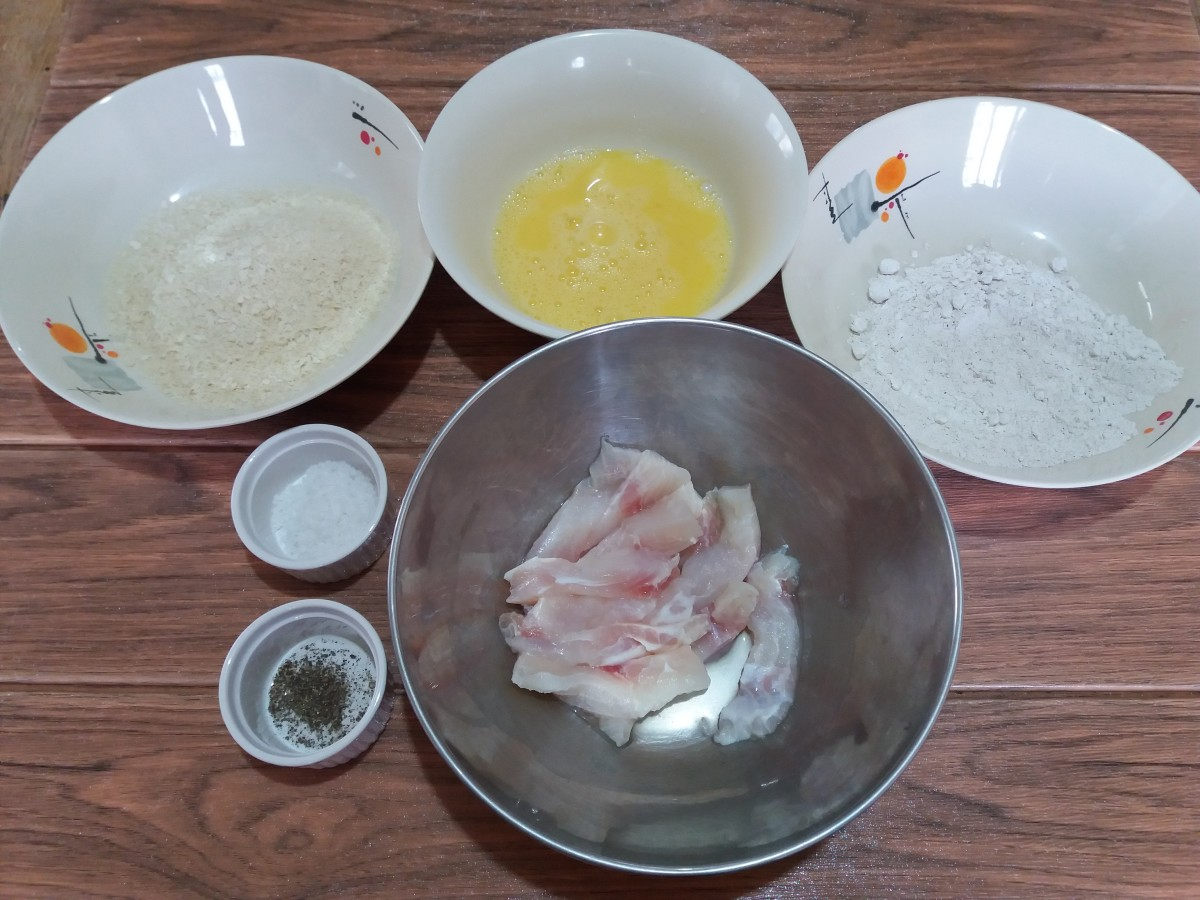 ingredients for a cream dory recipe