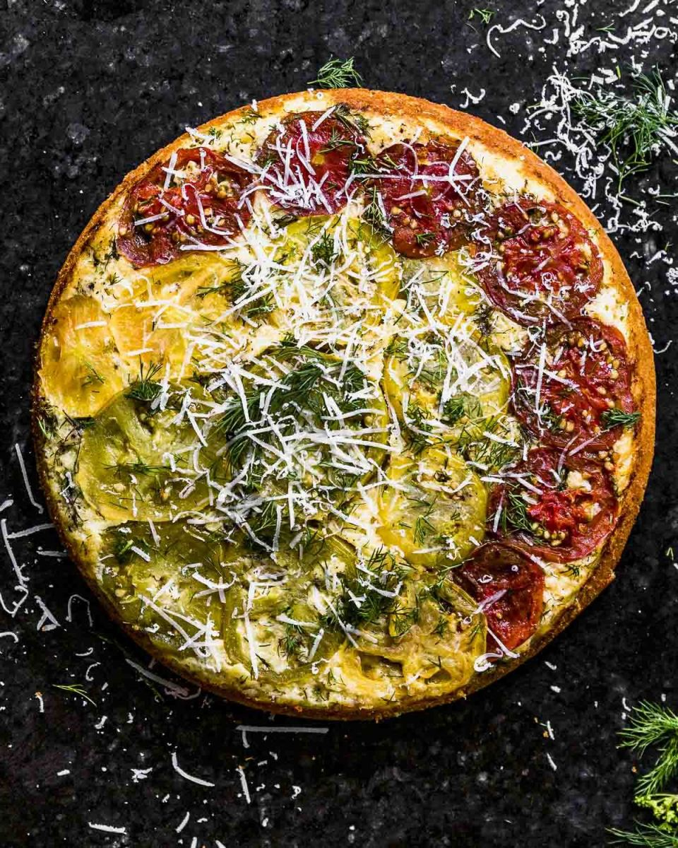Savory Skillet Cornbread: Tomato Upside-Down Cake