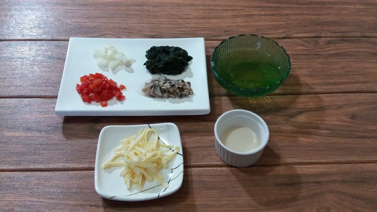 ingredients for crustless quiche