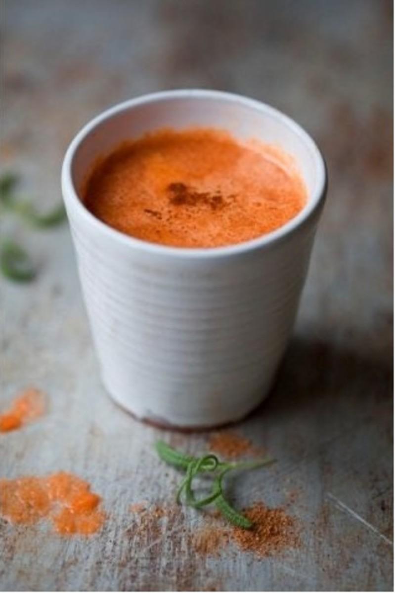Warm Apple Carrot Drink