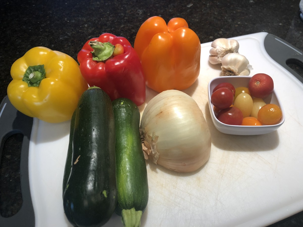 Fresh ingredients for a healthy dinner