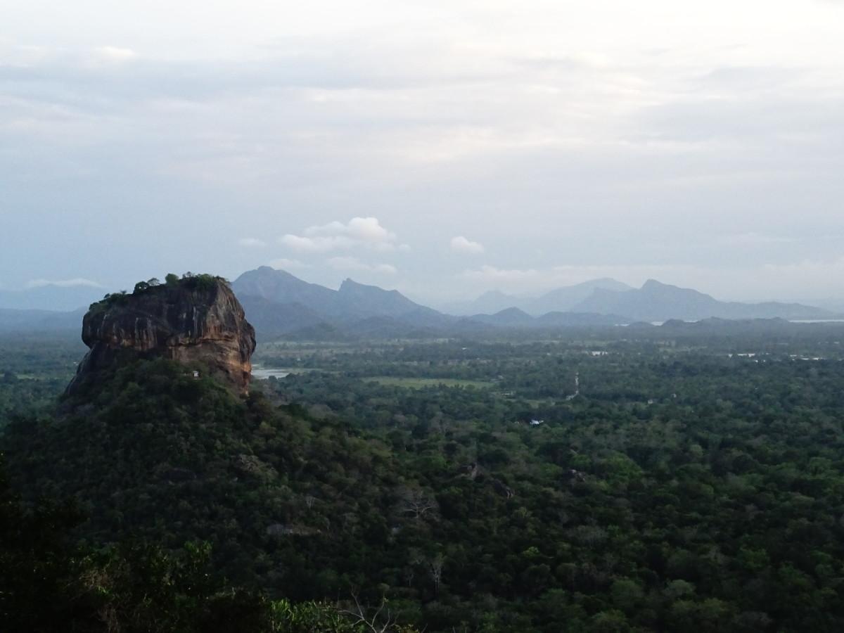 Overlooking Sigiriya from Pidurangala Rock, Sri Lanka.