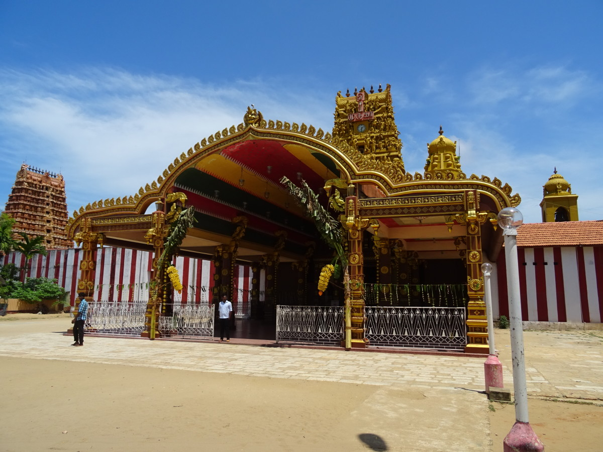 A traditional Hindu temple in Northern Sri Lanka