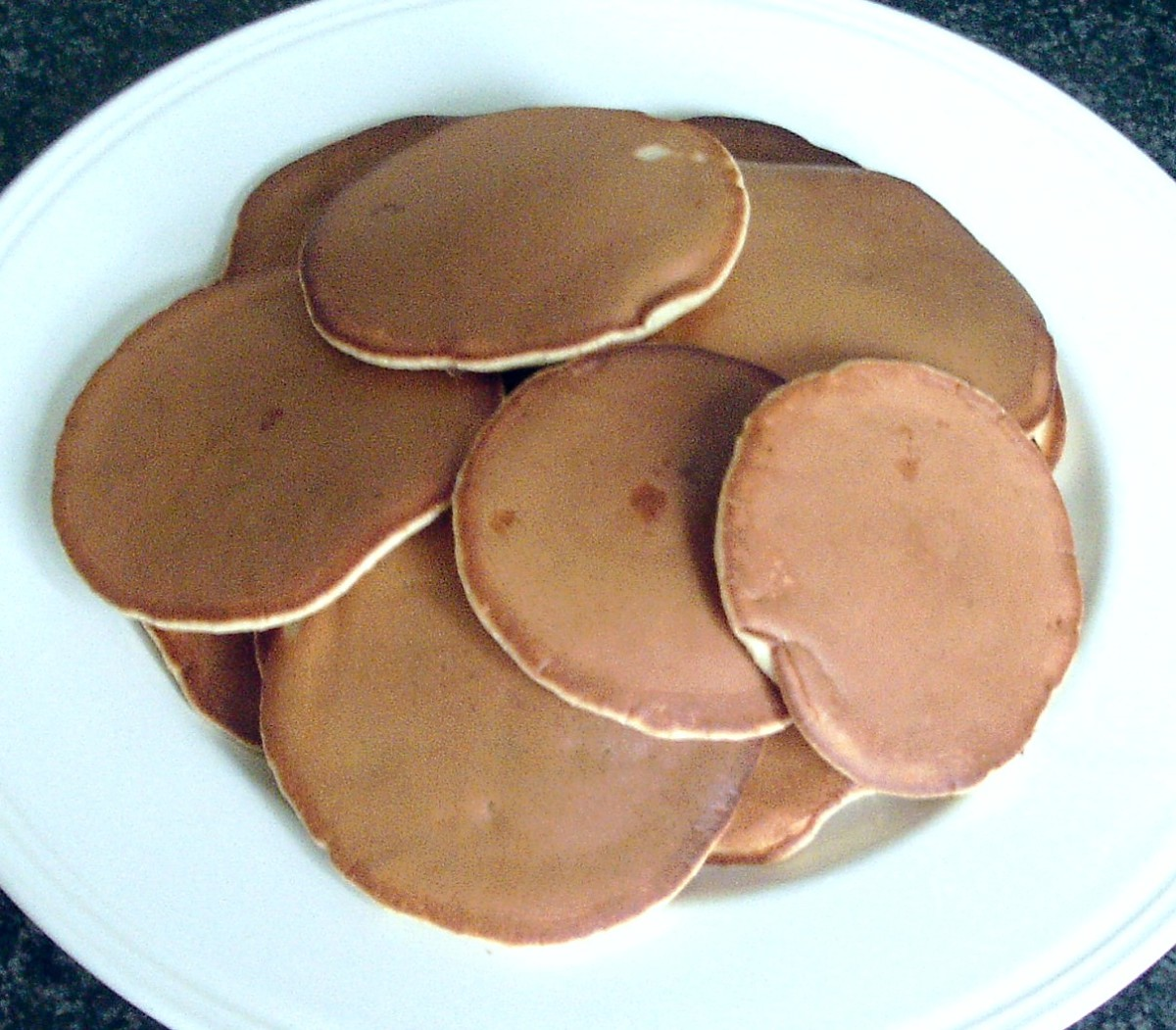 Scotch Pancakes (or Drop Scones) With Mincemeat Incorporated in the Batter