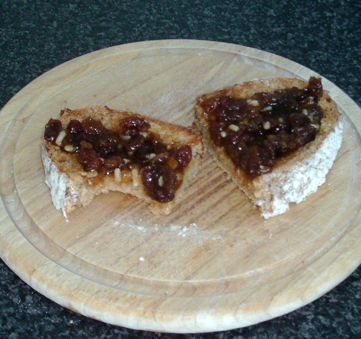 Mincemeat Spread and Enjoyed on Hot Buttered Toast