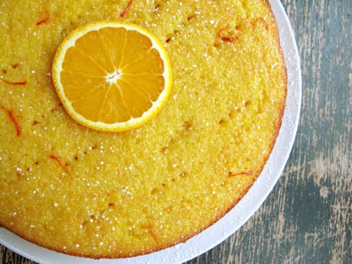 Orange Saffron Cake