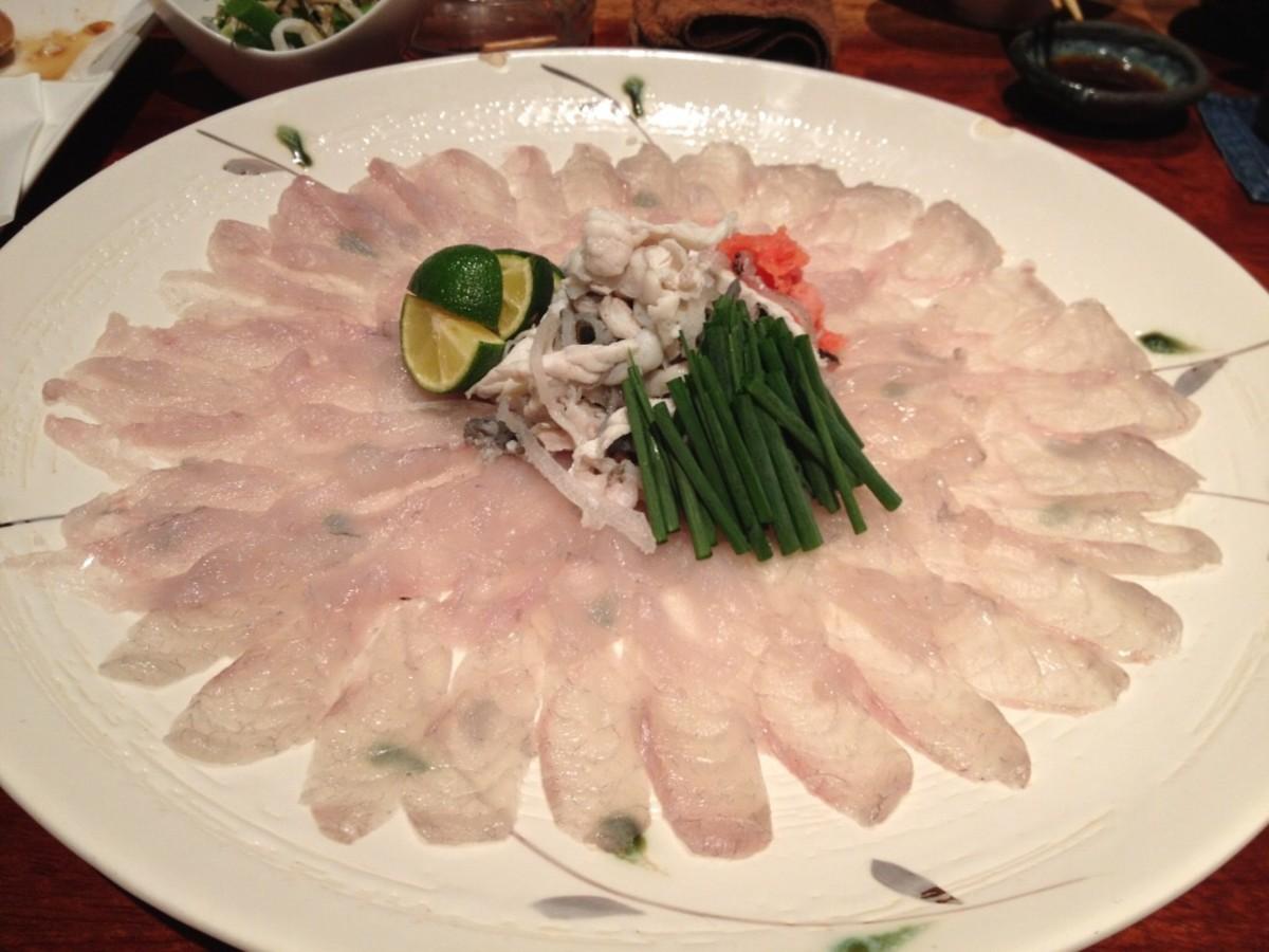Fugu sashimi