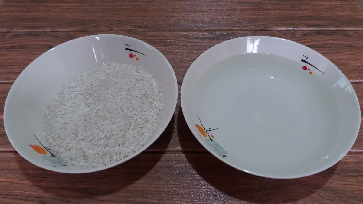 ingredients for cooking rice