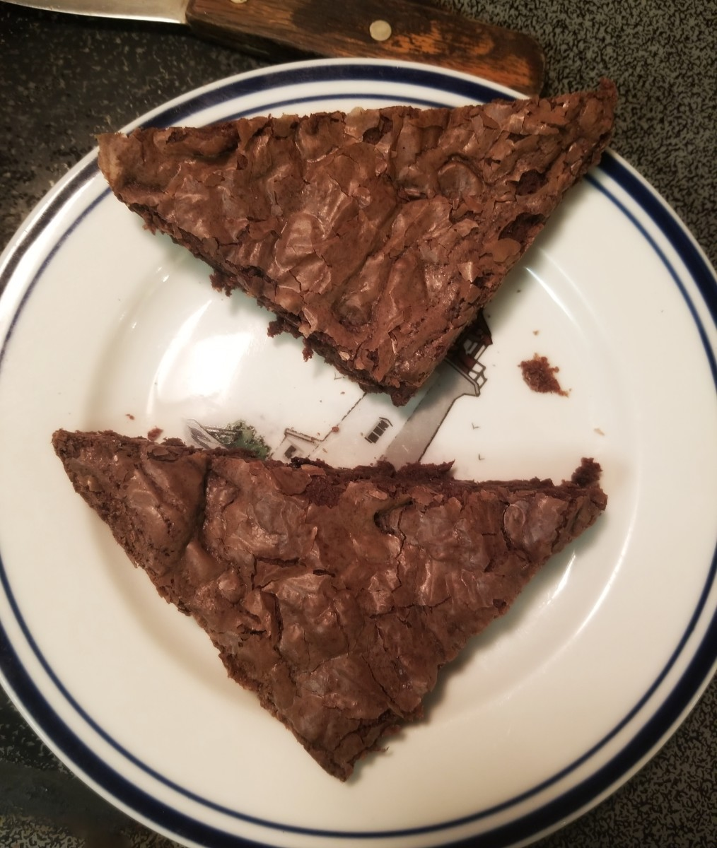 Your brownie triangles will look like this.