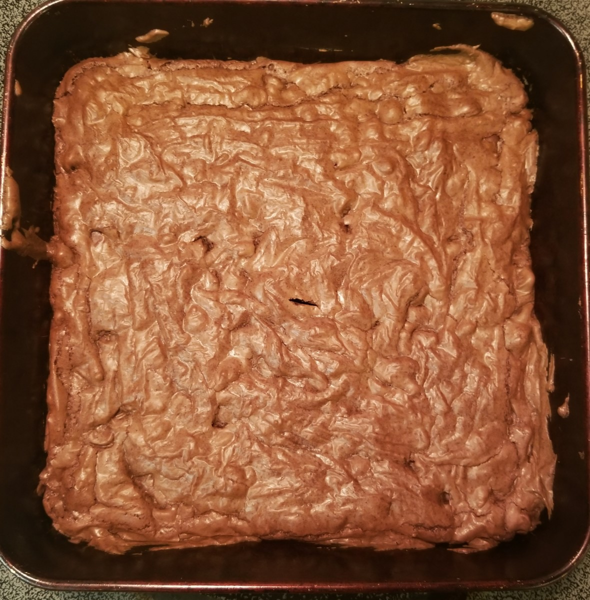 Step 1: Bake brownies thoroughly. Allow them to cool.