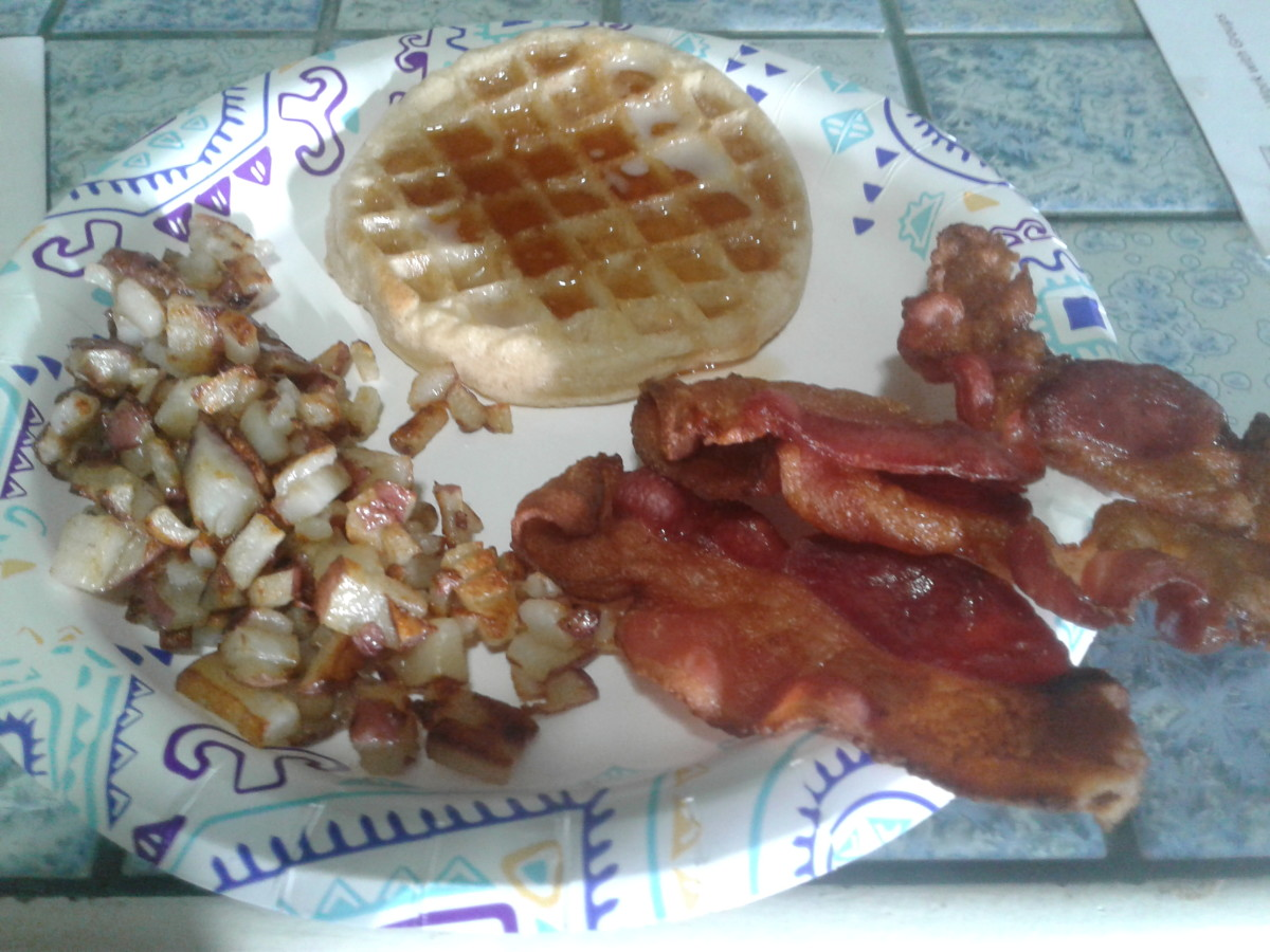 With waffles and home fries