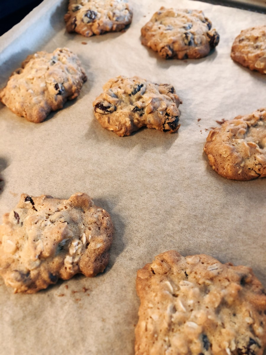 The oatmeal cookies are done.