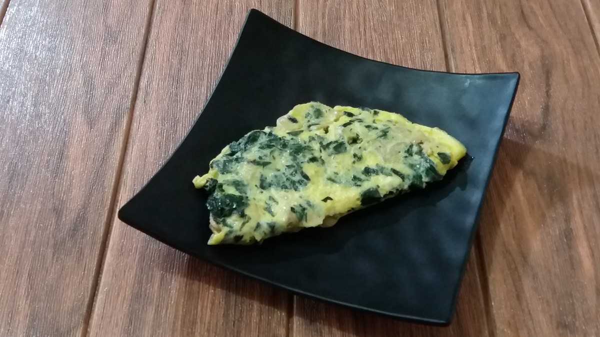 water spinach and mushroom omelette recipes